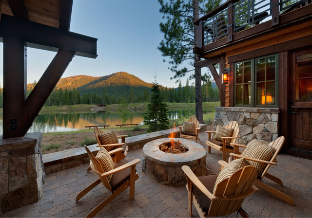 17 Breathtaking Rustic Patio Designs That Will Instantly ... on Mountain Backyard Ideas  id=58341