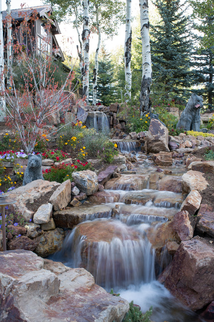 17 Spectacular Rustic Landscape Designs That Will Leave ... on Mountain Backyard Ideas id=66382