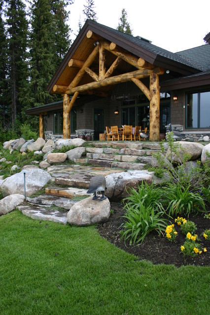 17 Spectacular Rustic Landscape Designs That Will Leave ... on Mountain Backyard Ideas  id=64203