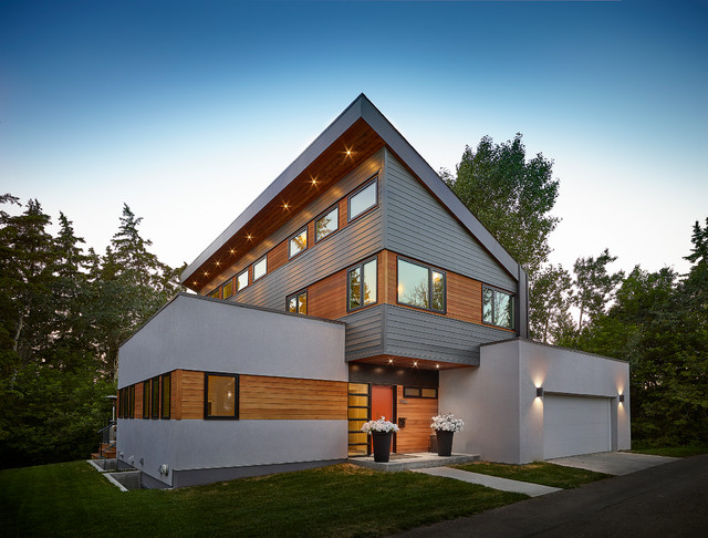 20 Unbelievably Beautiful Contemporary Home Exterior ... on Modern House Siding Ideas  id=89899