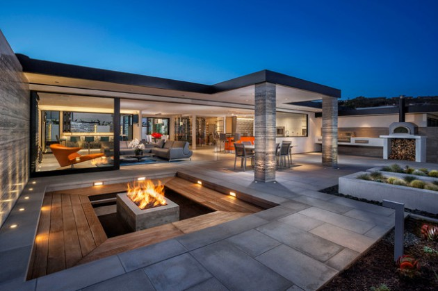 20 Incredible Contemporary Patio Designs That Will Bring ... on Modern Backyard Patio Ideas  id=48355