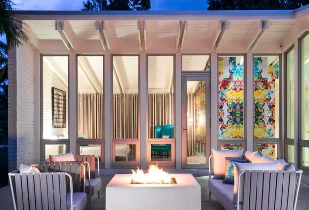 15 Stunning Mid-Century Modern Patio Designs To Make Your ... on Mid Century Modern Patio Ideas id=51760