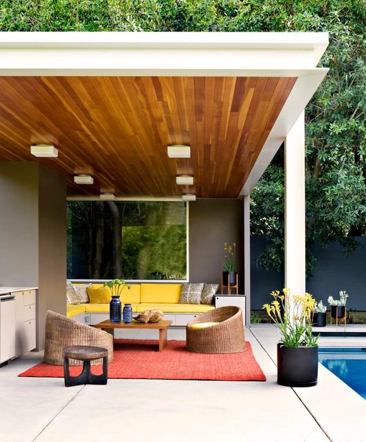 15 Stunning Mid-Century Modern Patio Designs To Make Your ... on Modern Small Patio Ideas id=52508