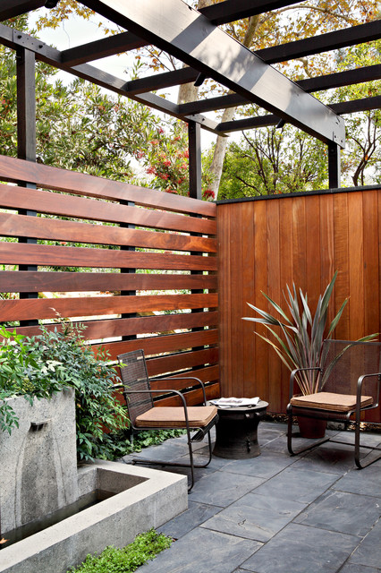 15 Stunning Mid-Century Modern Patio Designs To Make Your ... on Modern Backyard Patio Ideas  id=85217