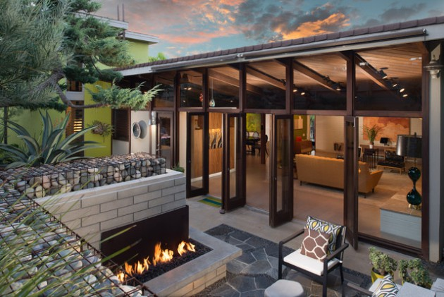 15 Stunning Mid-Century Modern Patio Designs To Make Your ... on Modern Back Patio id=15509