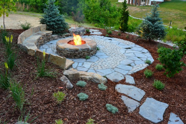 17 Wonderful Rustic Landscape Ideas To Turn Your Backyard ... on Rustic Backyard Ideas id=95825