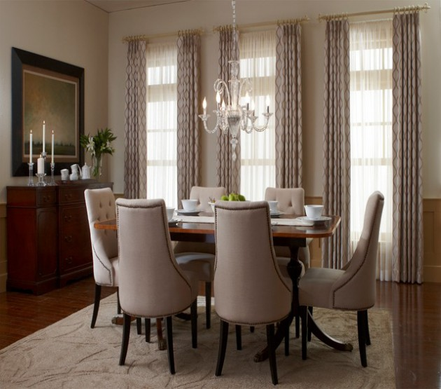 17 Remarkable Dining Room Curtains For Delightful Atmosphere on Dining Room Curtain Ideas  id=78405