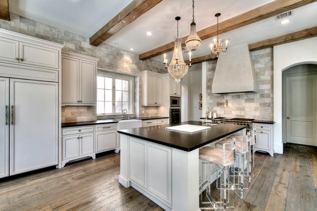 18 Gorgeous Kitchens With Natural Stone Backsplash