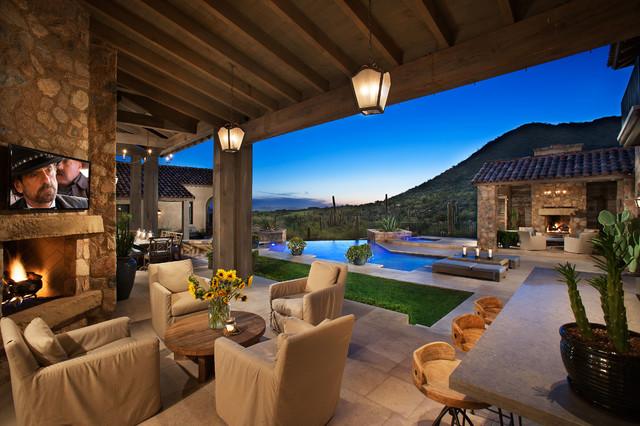 16 Cozy Southwestern Patio Designs For Outdoor Comfort on Backyard Exterior Design id=90708