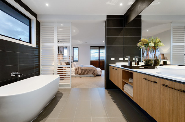 22 Captivating Contemporary Bathroom Designs That Will ... on Small:e_D8Ihxdoce= Restroom Ideas  id=85716