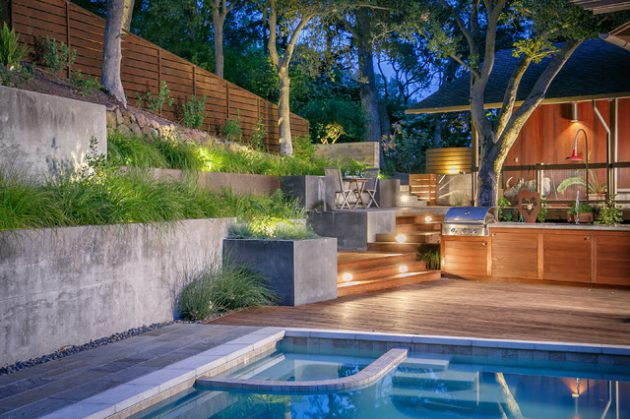 15 Outstanding Contemporary Landscaping Ideas Your Garden ... on Best Backyard Patio Designs id=60710