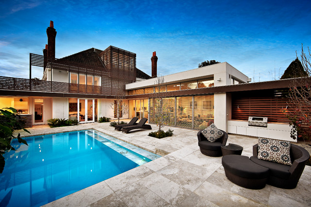 16 Dazzling Contemporary Swimming Pool Designs To Enjoy In ... on Modern Backyard Ideas With Pool id=86740