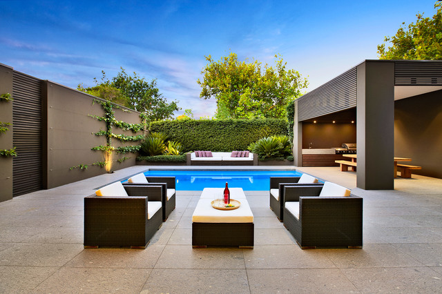 20 Immersive Contemporary Patio Designs That Will ... on Modern Backyard Patio Ideas  id=94284
