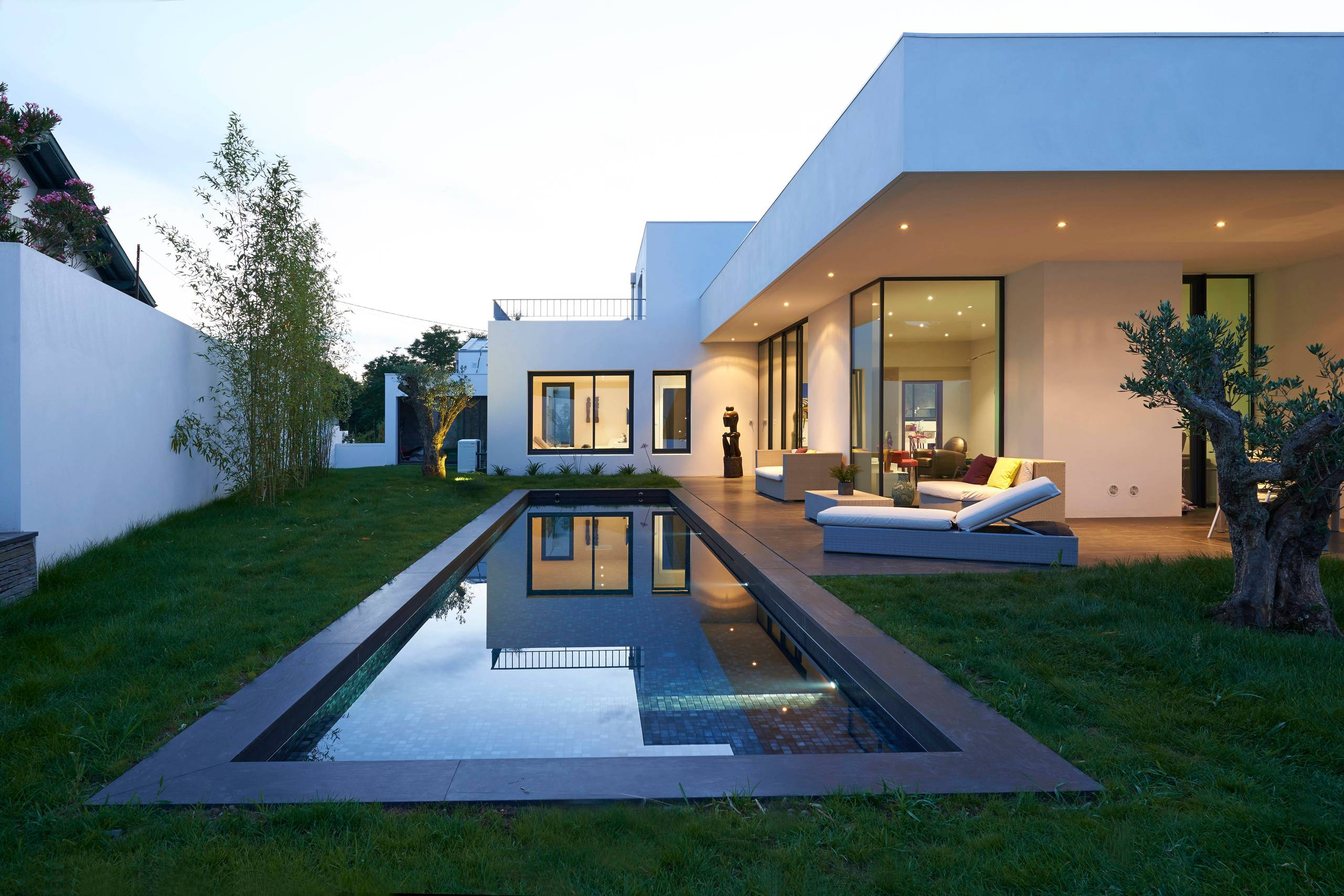 18 Dazzling Modern Swimming Pool Designs - The Ultimate ... on Modern Backyard Ideas With Pool id=28273
