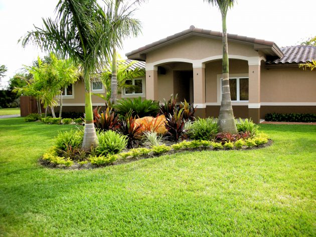 19 Exceptional Ideas To Decorate Your Landscape With Palm ... on Palm Tree Backyard Ideas id=79302