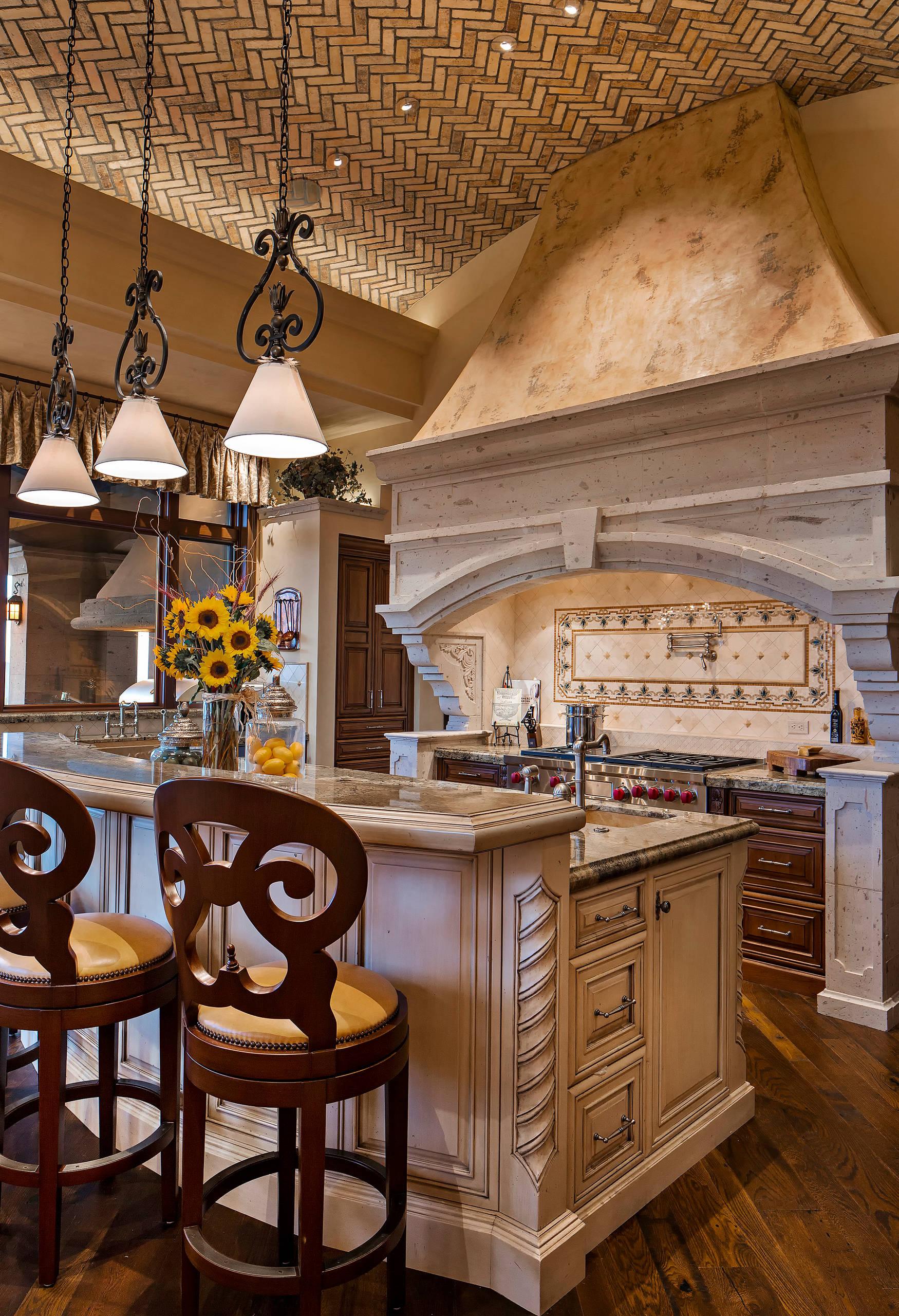16 Charming Mediterranean Kitchen Designs That Will ... on Farmhouse:4Leikoxevec= Rustic Kitchen Ideas  id=92977