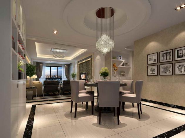 17 Eye-Catching Ceiling Designs To Spruce Up The Look Of ... on Dining Table Ceiling Design  id=53303