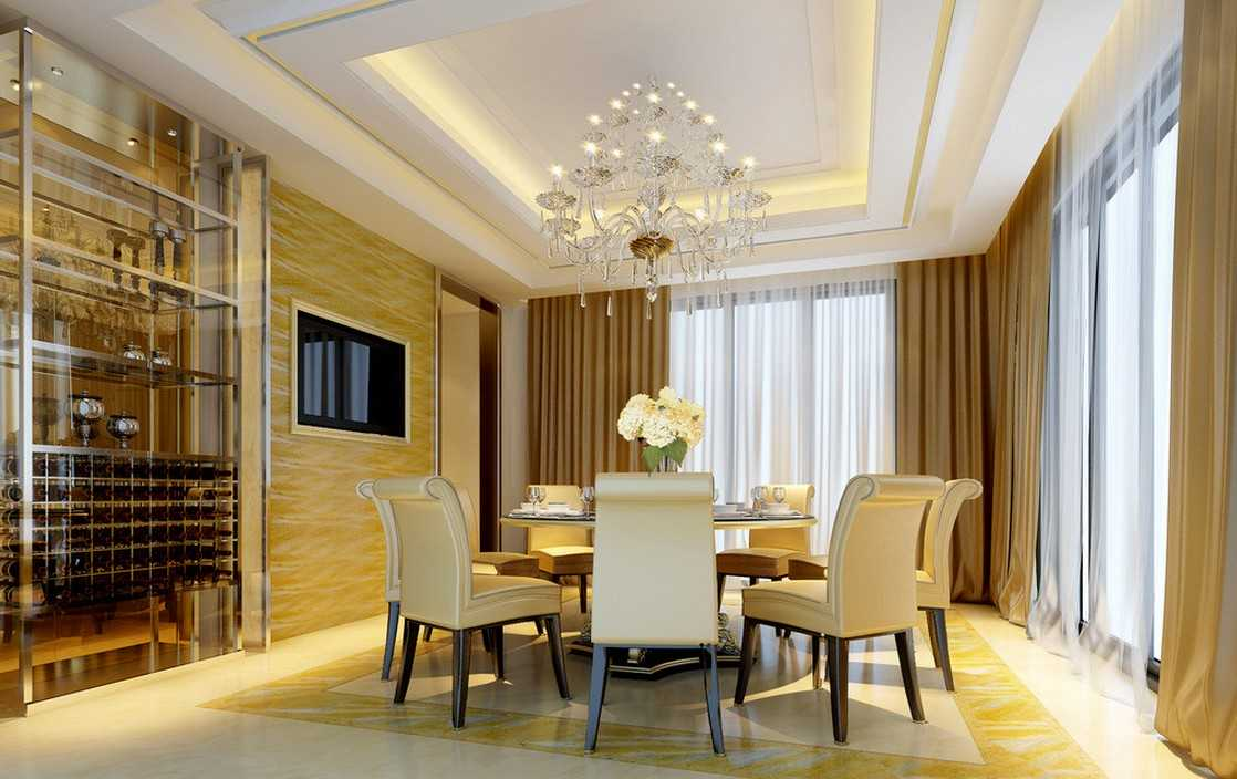17 Eye-Catching Ceiling Designs To Spruce Up The Look Of ... on Dining Table Ceiling Design  id=90367