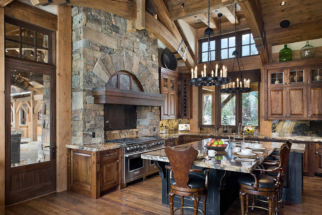 15 Inspirational Rustic Kitchen Designs You Will Adore on Rustic Farmhouse Kitchen Ideas  id=60805