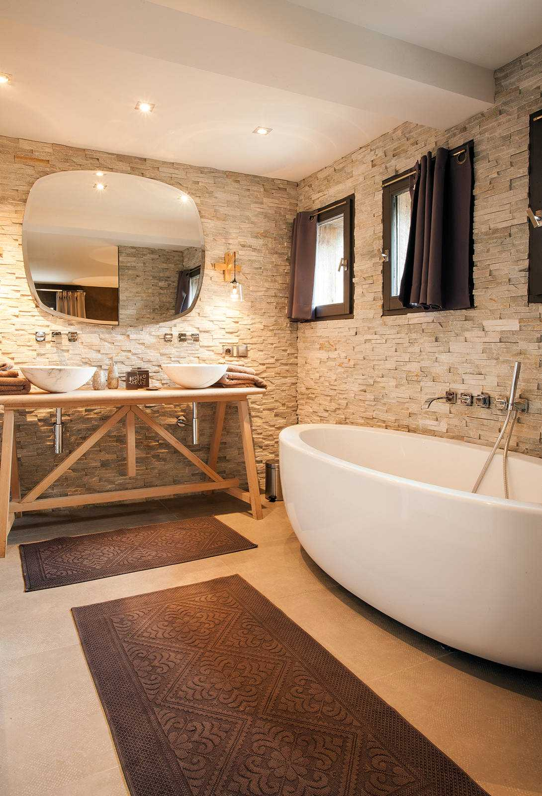 16 Fantastic Rustic Bathroom Designs That Will Take Your ... on Small:e_D8Ihxdoce= Restroom Ideas  id=81315