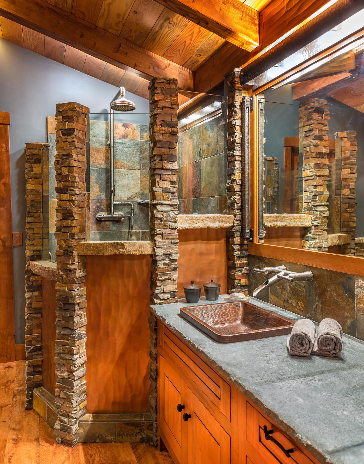 16 Fantastic Rustic Bathroom Designs That Will Take Your ... on Bathroom Remodel Design Ideas  id=74589