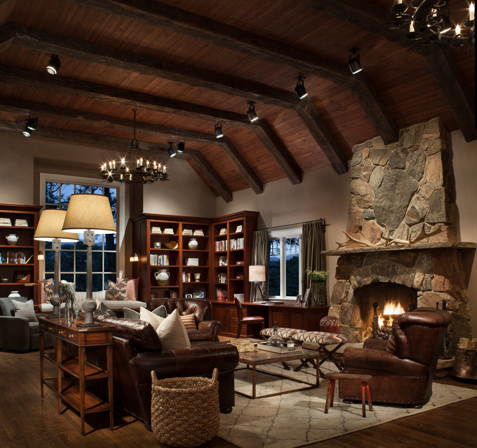16 Sophisticated Rustic Living Room Designs You Won't Turn ... on Living Room Design Ideas  id=97880