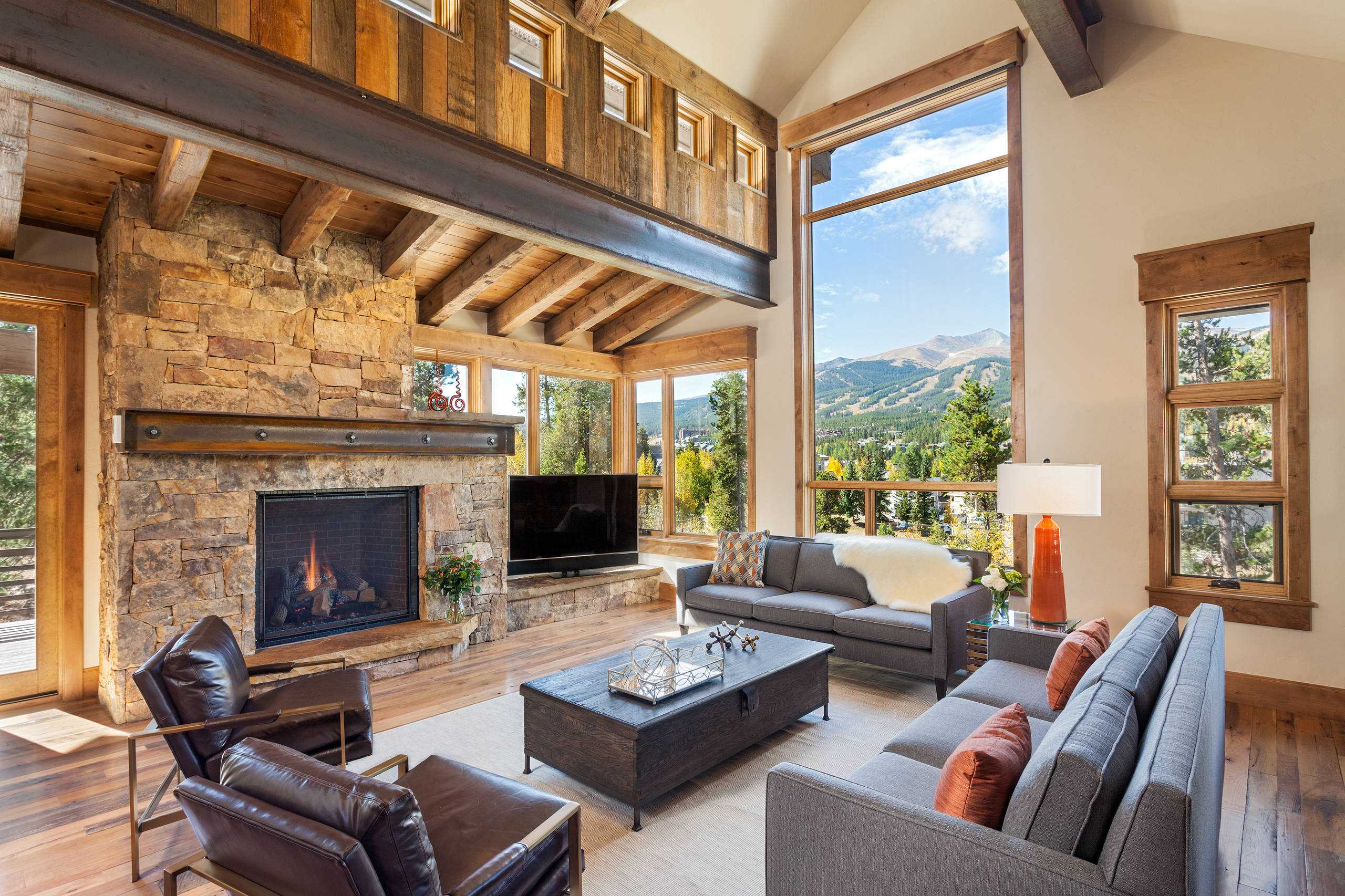 16 Sophisticated Rustic Living Room Designs You Won't Turn ... on Living Room Style Ideas  id=77507