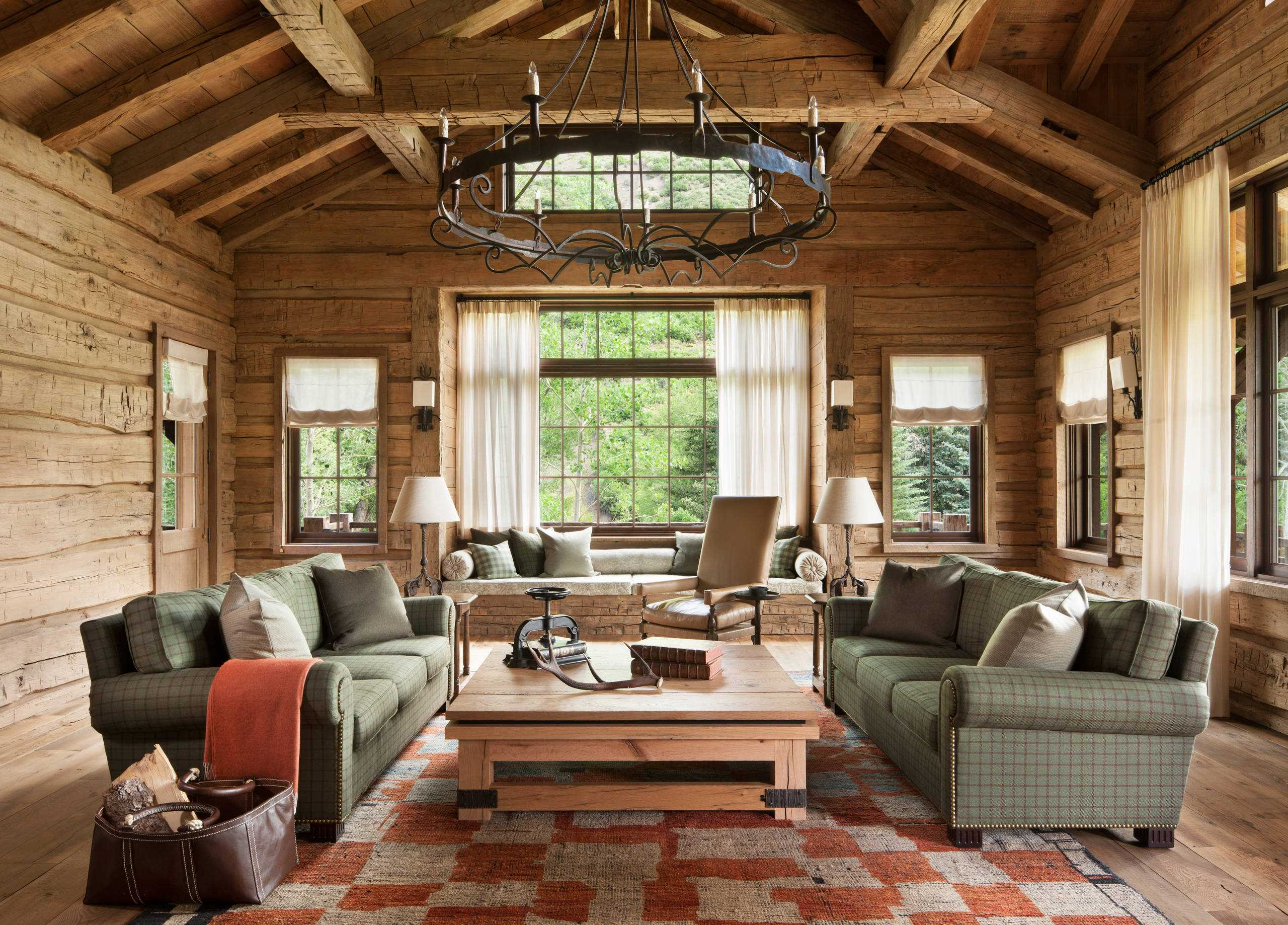 16 Sophisticated Rustic Living Room Designs You Won't Turn ... on Room Decor Photos  id=91549