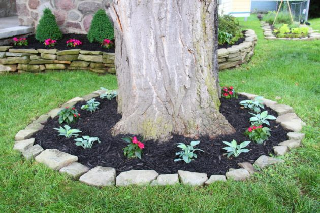 15 Beautiful Ideas For Decorating The Landscape Around The ... on Backyard Landscaping Ideas With Trees id=91429