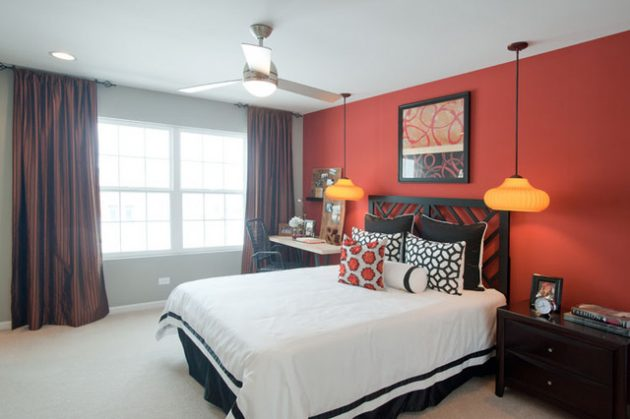15 Spectacular Red Bedroom Designs For More Dramatic ... on Small:gr1Vspvqs9Y= Bedroom Ideas  id=23815
