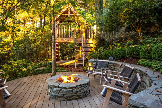 15 Amazing Rustic Deck Designs That Will Enhance Your ... on Patio With Deck Ideas id=28078