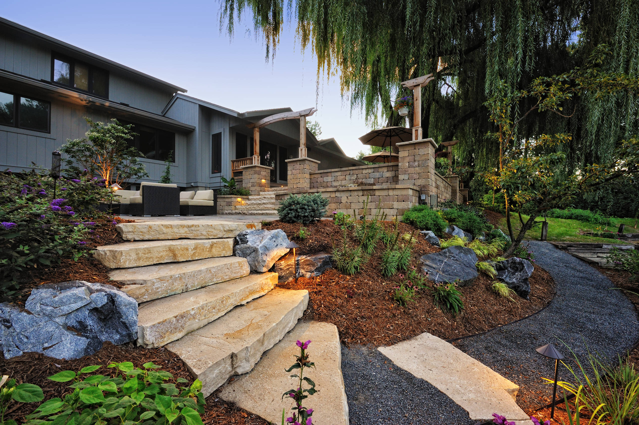 15 Stunning Rustic Landscape Designs That Will Take Your ... on Landscape Design Ideas  id=98687