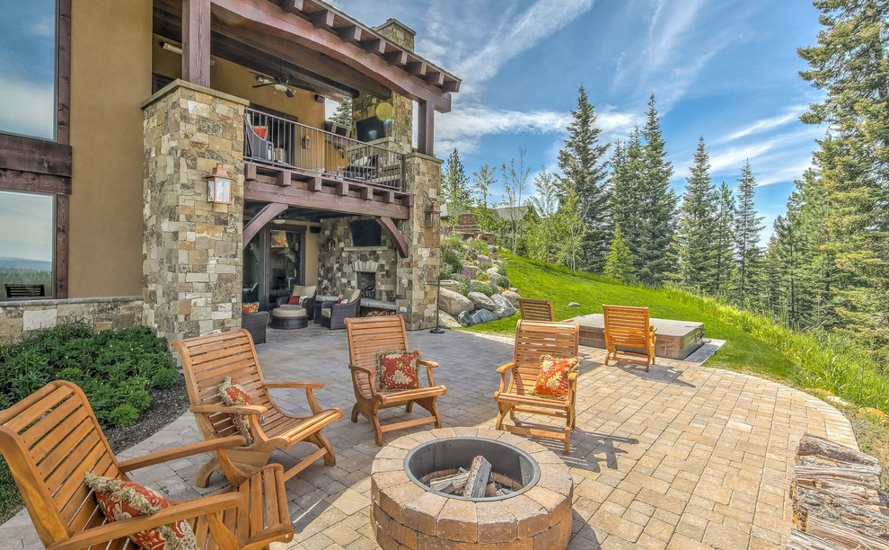 16 Magical Rustic Patio Designs That You Will Fall In Love ... on Mountain Backyard Ideas id=83448