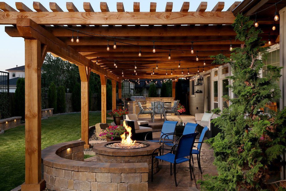 16 Magical Rustic Patio Designs That You Will Fall In Love ... on Patio Designs Images  id=26627