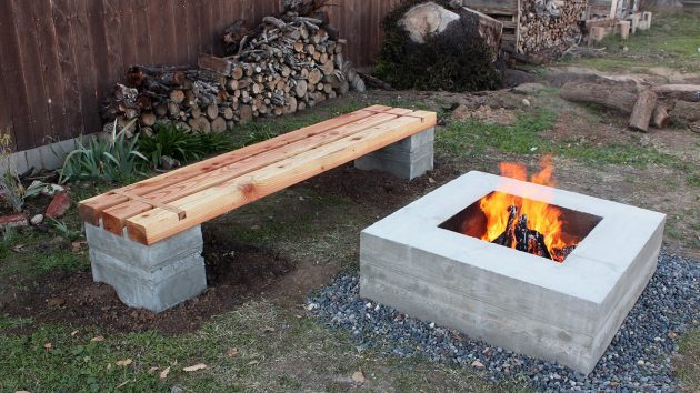 19 Simple DIY Projects Made Of Concrete Blocks That Will ... on Cinder Block Fireplace Diy  id=52959