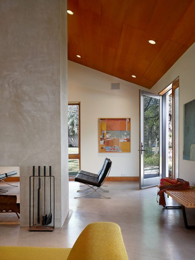 17 Captivating Mid-Century Modern Entrance Designs That ... on Modern Entrance Design  id=55923