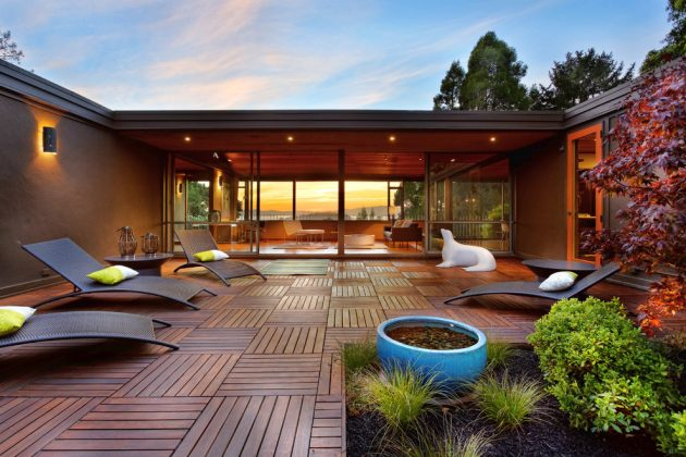 15 Enchanting Mid-Century Modern Deck Designs Your Outdoor ... on Mid Century Modern Patio Ideas id=95109