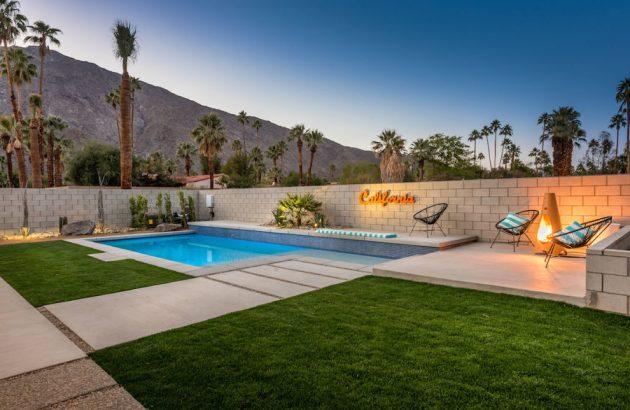 16 Stunning Mid-Century Modern Swimming Pool Designs That ... on Modern Backyard Ideas With Pool id=76906