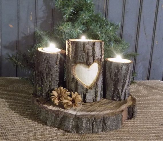 18 Fascinating DIY Wood Log Decorations That You Can Make