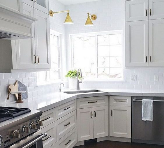 18 Space-Saving Corner Sink Ideas That Are Ideal For Small ... on Kitchen Sink Ideas  id=21356
