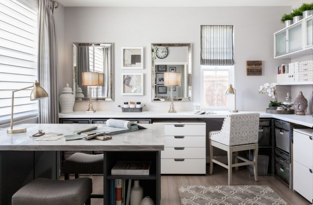15 Inspirational Transitional Home Office Designs For