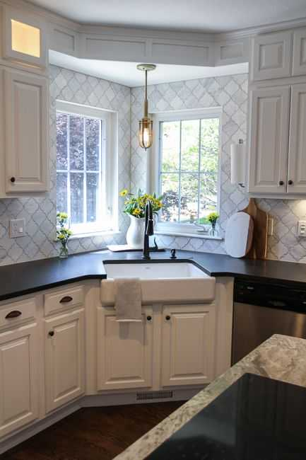 18 Space-Saving Corner Sink Ideas That Are Ideal For Small ... on Kitchen Sink Ideas  id=97586