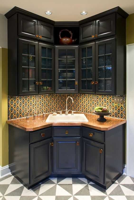 18 Space-Saving Corner Sink Ideas That Are Ideal For Small ... on Modern:gijub4Bif1S= Kitchen Remodel  id=43720