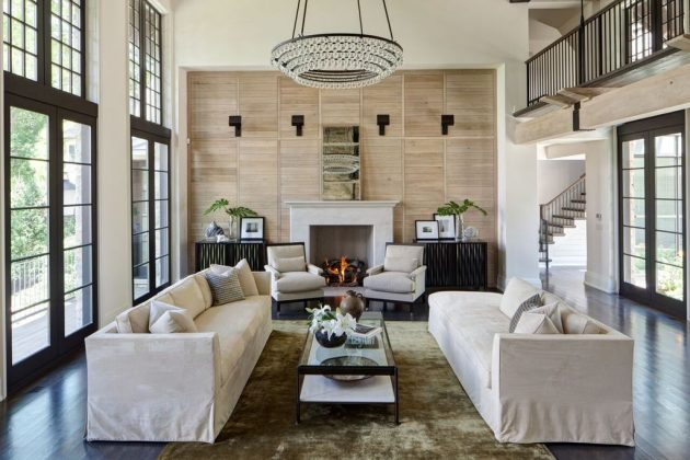 16 Outstanding Ideas For Decorating Living Room With High Ceiling