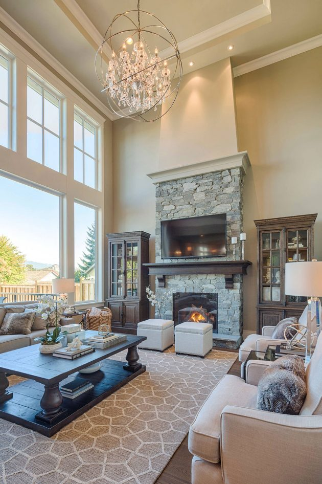 16 Outstanding Ideas For Decorating Living Room With High ... on Decor Room  id=53040