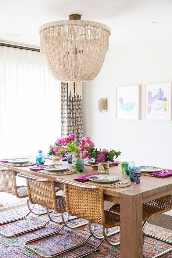 Decorating a room offers the chance to put your individual style on display and make a space unique. Boho Style Dining Room- A Real Hit This Summer