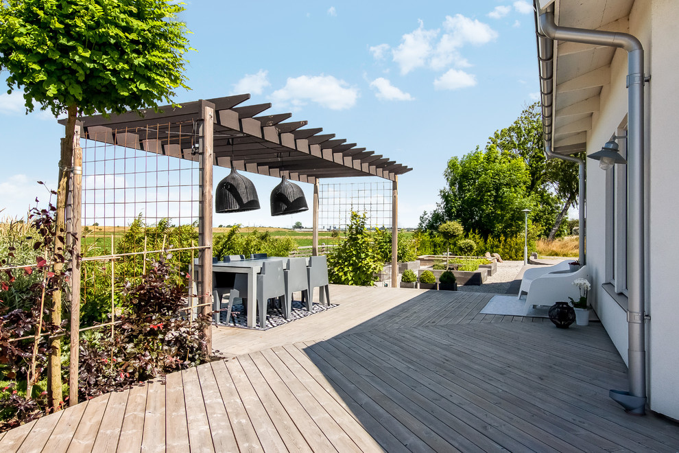 17 Simple Yet Beautiful Scandinavian Deck Designs For Your ... on Simple Back Deck Ideas id=59378