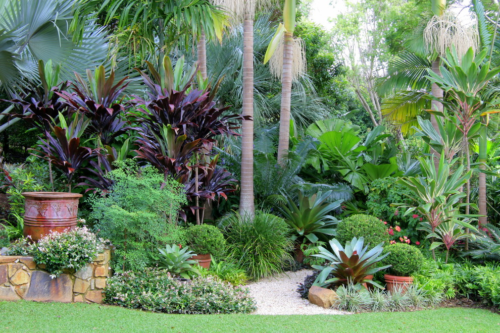 15 Stunning Tropical Landscape Designs That Know How To ... on Tropical Backyard Landscaping  id=99187