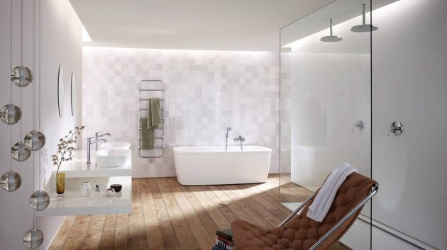 White Amp Wood The Best Combination For Perfect Bathroom