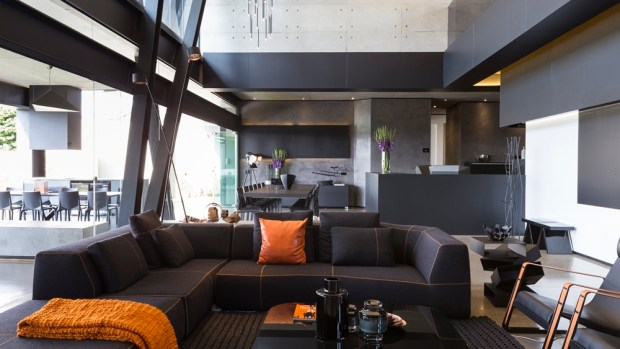 Modern living room in one of the best houses in the world